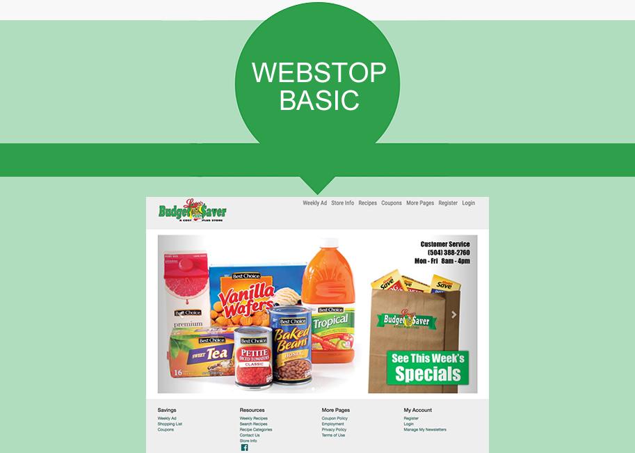 AWG Marketing Website program: WebStop Basic example.