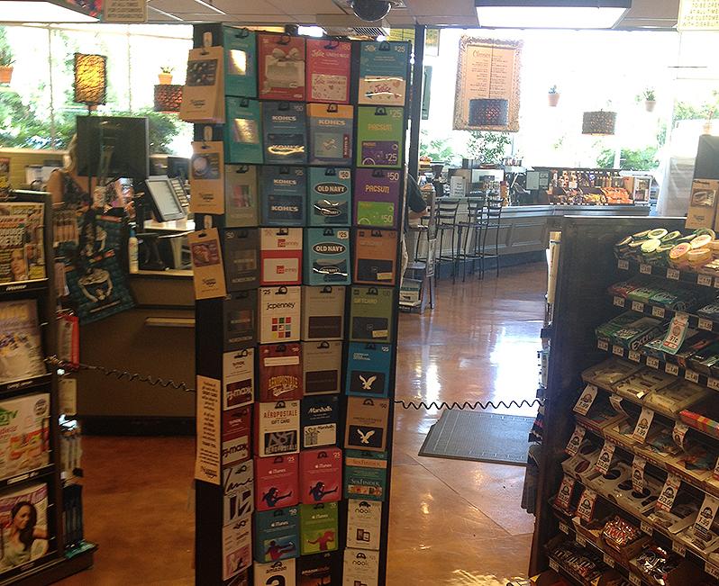 Black Hawk Gift Card display - 144 pegs