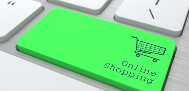 Online Shopping keyboard button