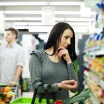 millenial shopper in grocery store