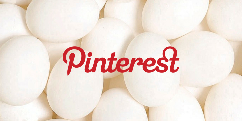 Eggs with Pinterest logo overlay