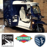 The Roasterie golf cart