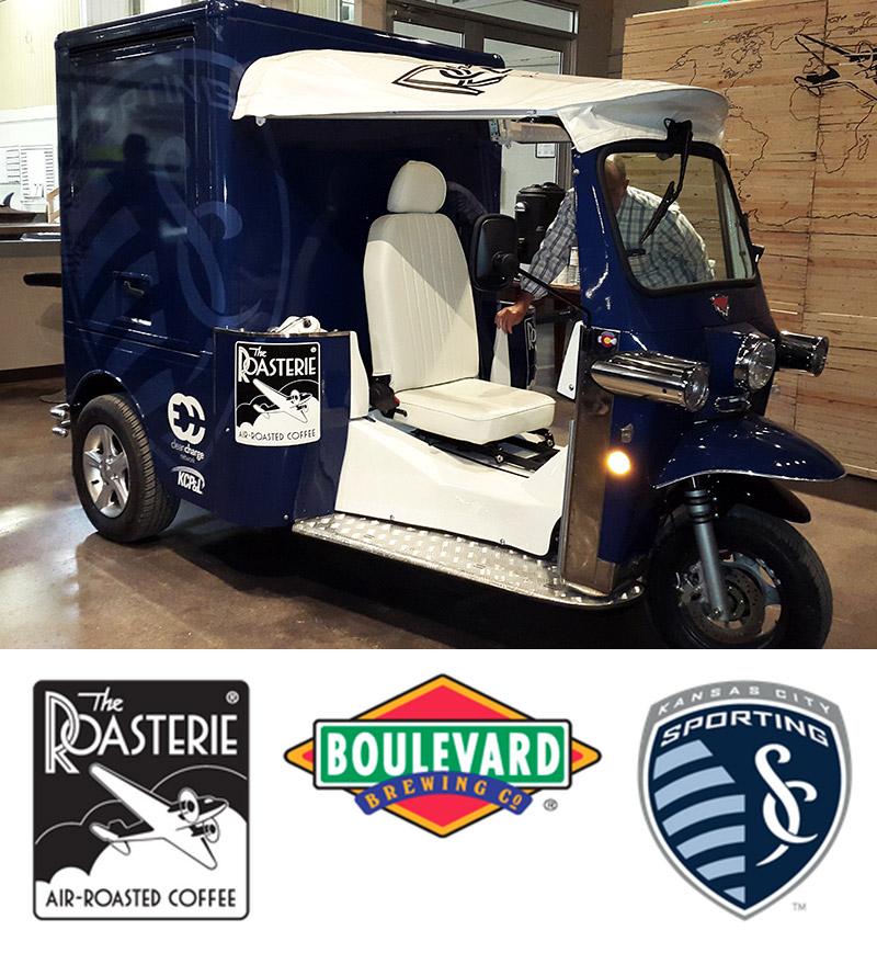 The Roasterie golf cart