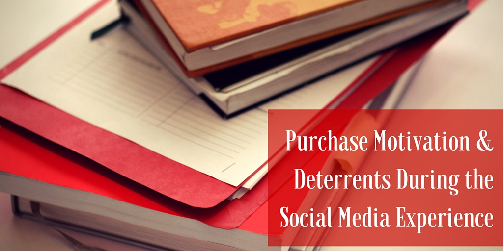 Books with words: Purchase Motivation & Deterrents during the social media experience