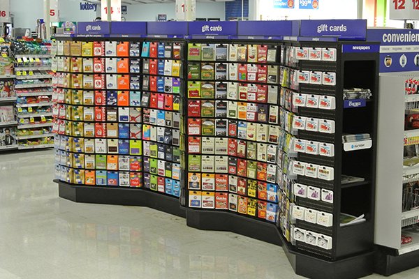 Large gift card display