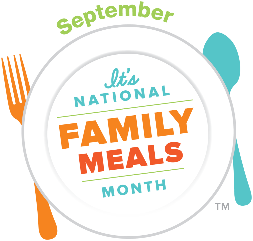 September National Family meals Month logo