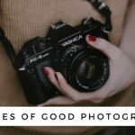 Woman with camera - virtues of good photographs