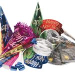 A pile of New Years party hats