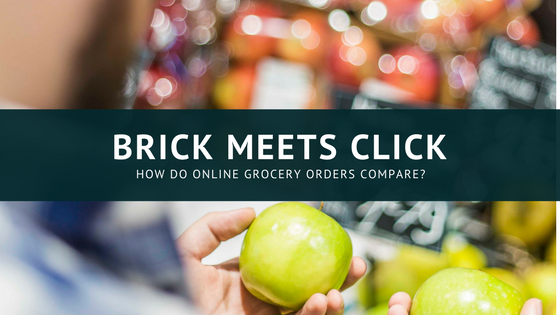 Brick meets click - how do online grocery orders compare?