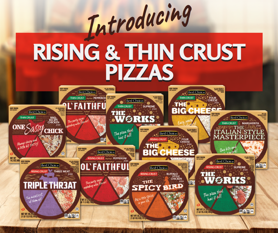 Introducing Best Choice Frozen Pizza Line