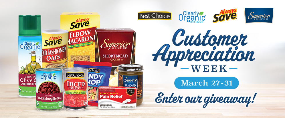 AWG Brands Customer Appreciation Week Giveaway Graphic