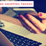 2017 online shopping trends - woman at laptop holding phone.
