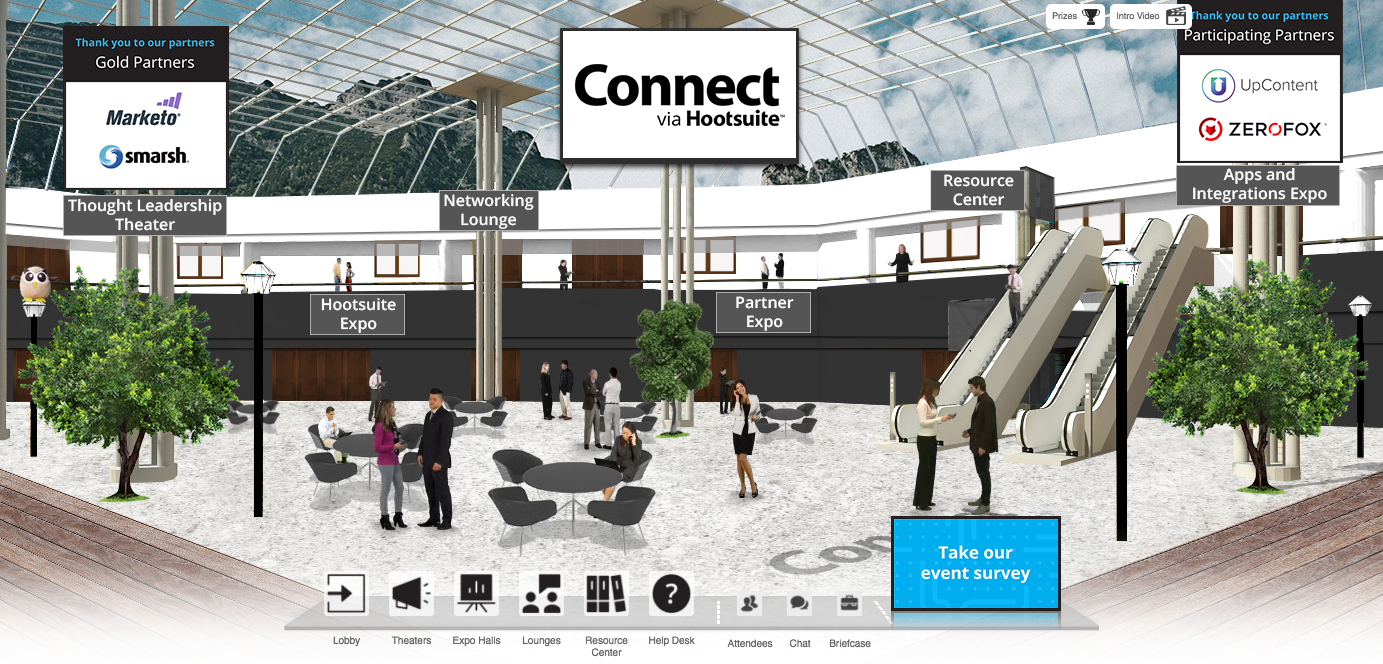 Connect via Hootsuite
