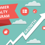 Customer loyalty program w growth arrow