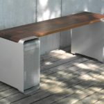 Photo of two old Mac Quadra towers to make a bench.