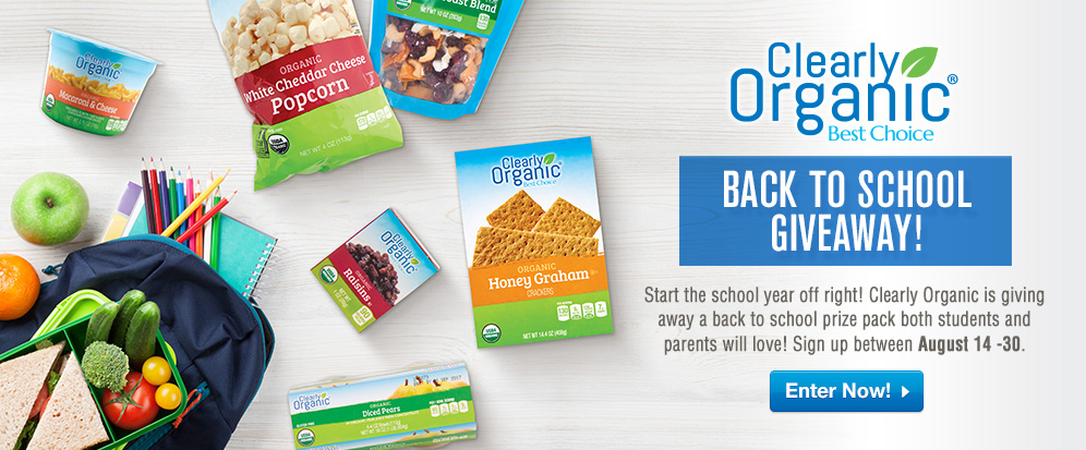 Clearly Organic Back to School Giveaway Artwork