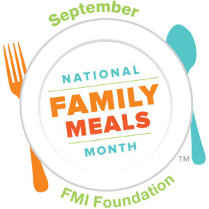 Logo: September is National Family Meals Month - FMI Foundation