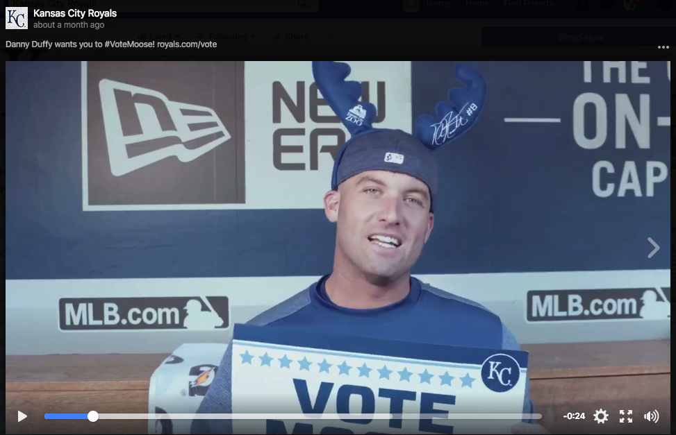 Screenshot of Royals Danny Duffy video.