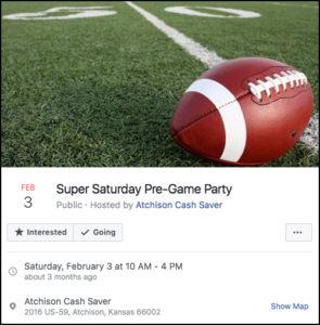 Super Saturday Pre-Game Party Facebook Event