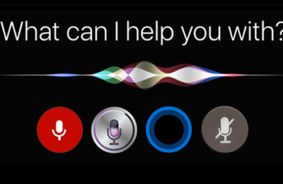 "Voice activated ""What can I help you with?"""